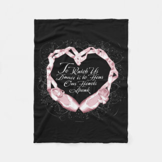 Hear Our Ballet Hearts Fleece Blanket