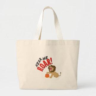 Hear Roar Jumbo Tote Bag