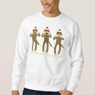 Hear, See, Speak No Evil Sock Monkeys Sweatshirt