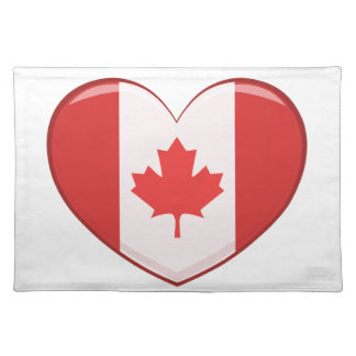 Hear Shaped Flag As A National Canadian Culture Sy Placemat