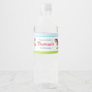Hear Ye African American Knight Water Bottle Label