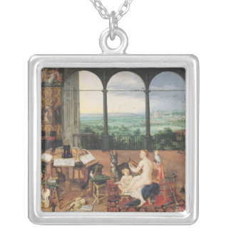 Hearing, 1617 silver plated necklace