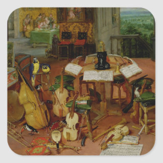 Hearing, 1617 square sticker
