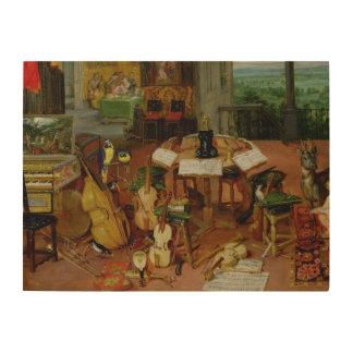 Hearing, 1617 wood wall art