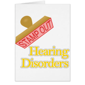 Hearing Disorders Note Card