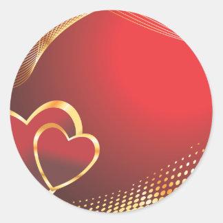 Heart-213 ai round stickers