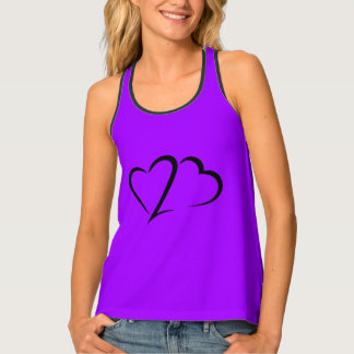 Heart 23™ Brand Women's Purple Racerback Tank Top