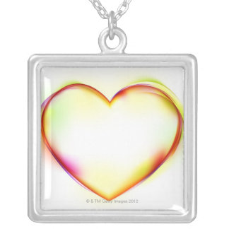 Heart 2 silver plated necklace