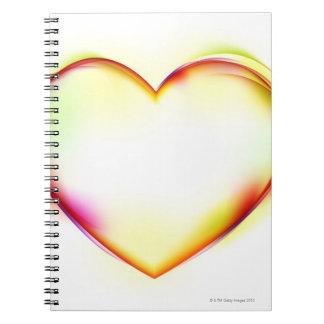 Heart 2 spiral notebook