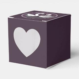 Heart 2x2 LOVE SWANS Party Favour Box