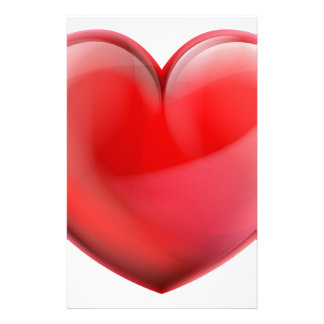Heart 3d Icon Stationery