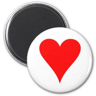 Heart 6 Cm Round Magnet