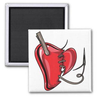 heart-9Red Heart Broken Torn Sew Love Hearts Refrigerator Magnets
