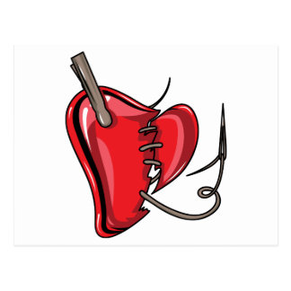 heart-9Red Heart Broken Torn Sew Love Hearts Post Card