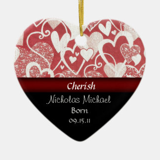 Heart Adoption Announcement Keepsake Christmas Ornament