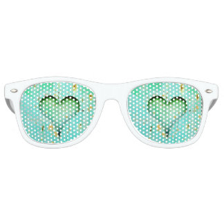 Heart Adult Wayfarer Party Shades, White