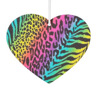 Heart Air Freshener/Rainbow Animal Print Car Air Freshener