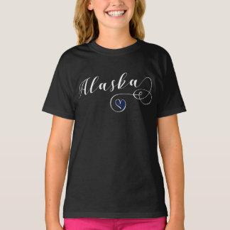 Heart Alaska TShirt, Alaskan Flag T-Shirt