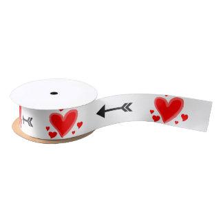 Heart and Arrow Ribbon Satin Ribbon