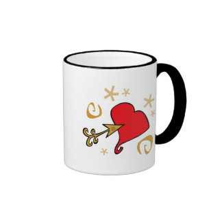 Heart and Arrow Valentine T-shirts and Gifts Mug