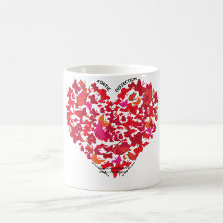 Heart and Butterfly Art Ceramic Mug