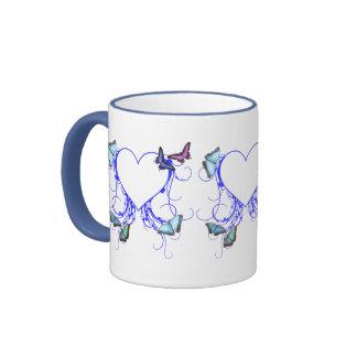 Heart and Butterfly Coffee Mug