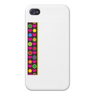 Heart and Circle Border iPhone 4/4S Cover