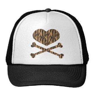 heart and crossbones tiger cap