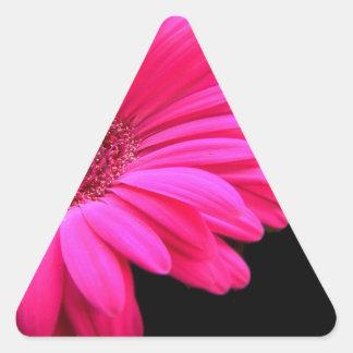 Heart and Gerbera Triangle Sticker