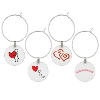 Heart and Hugs Wine Charm