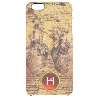 Heart And Its Blood Vessels Parchment Gem Monogram Clear iPhone 6 Plus Case