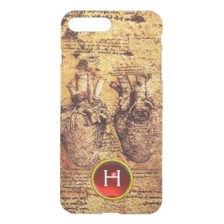 Heart And Its Blood Vessels Parchment Gem Monogram iPhone 7 Plus Case