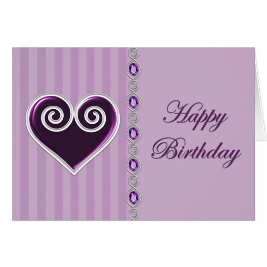 Heart and Jewels Birthday Card