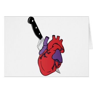 heart and knife greeting card