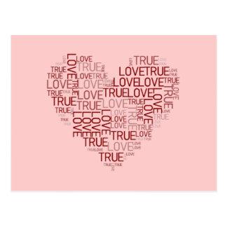 Heart and Love Postcard