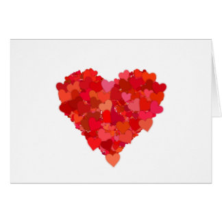 heart and love symbol in red card