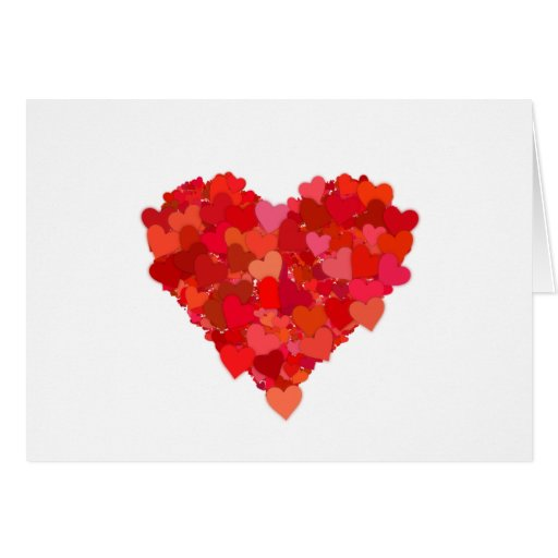heart and love symbol in red greeting cards