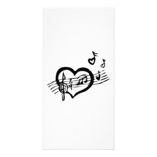 Heart and Music Personalized Photo Card