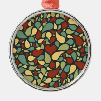 heart and paisley pattern ornament
