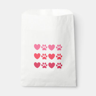 Heart and Paw Favor Bags