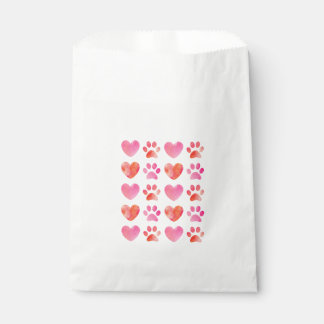 Heart and Paw Print Favor Bags