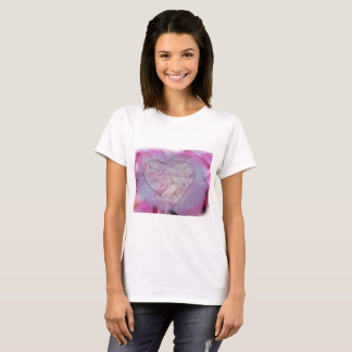 Heart and Rose Petals T-Shirt