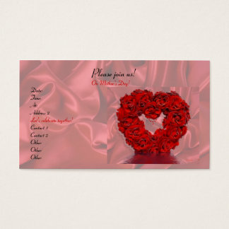 Heart and Roses Business Card