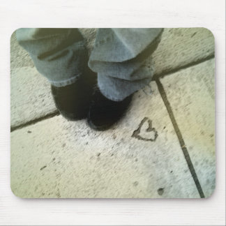 heart and shoes mouse mat