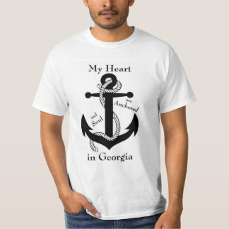 Heart and soul  Anchored in Georgia T-Shirt
