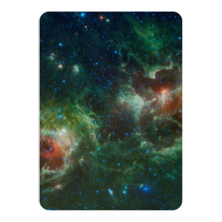 Heart and Soul nebulae infrared mosaic NASA 11 Cm X 16 Cm Invitation Card
