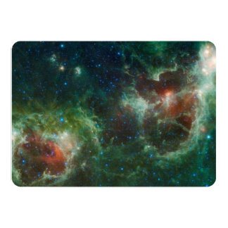 Heart and Soul nebulae infrared mosaic NASA 13 Cm X 18 Cm Invitation Card