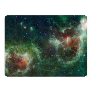 Heart and Soul nebulae infrared mosaic NASA 6.5x8.75 Paper Invitation Card