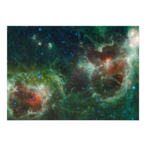 Heart and Soul nebulae infrared mosaic NASA Personalized Announcement