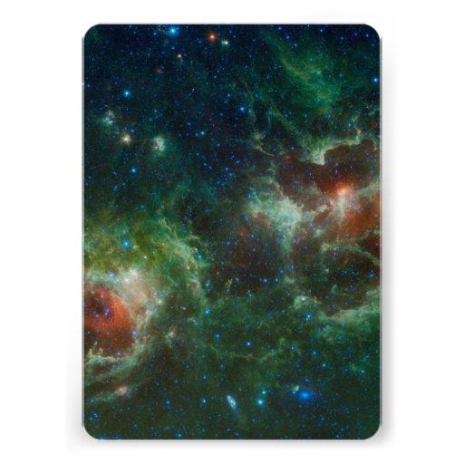 Heart and Soul nebulae infrared mosaic NASA Invitations